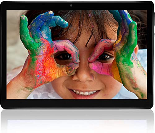 Tablet 10 pollici, Android 10 Tablet PC, 4 GB RAM, 64 GB ROM Quad-core, 1280 × 800 FHD IPS, fotocamera 5 MP + 8 MP, GPS, WiFi, Bluetooth 5.0, scheda TF completamente in metallo 8000 mAh (Nero)