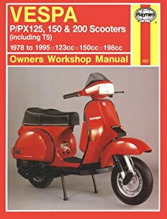 Vespa P / PX 125, 150 & 200 Scooters (Including T5) 1978 to