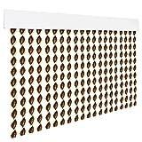 HOME MERCURY – Cortina espiral para puerta exterior o interior, material PVC – libre de insectos (200x90CM, Marron+Filo Beig R2)