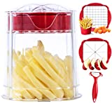 French Fry Cutter, Apple Cutter, Vegetable Slicer, Onion Chopper, Super Sharp Blades, Easy to Clean, Dishwasher Safe,...
