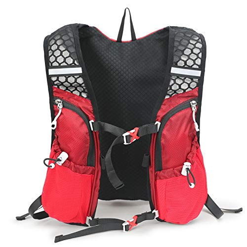 Irfora Mochila de Hidratación de 5 litros, Mochila de Carreras Liviana, de Gran Capacidad para Correr, Montañismo, Suministros (Rojo)
