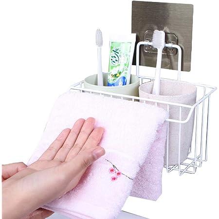 YunNasi Porte-éponge Panier de Rangement Panier Évier Espace Organisateur Support pour Toilette Cuisine Pas de Forage