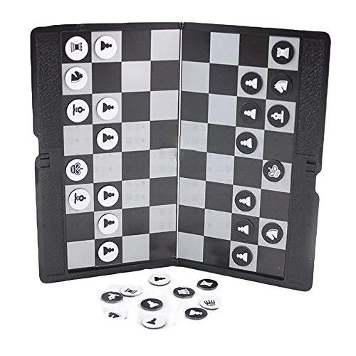 YOBENS NBM Magnetisch Super Dun Schaakbord Game Portemonnee Uiterlijk Draagbaar Vouwen Reizen Familie Feestschaakset Internationaal Schaakspel