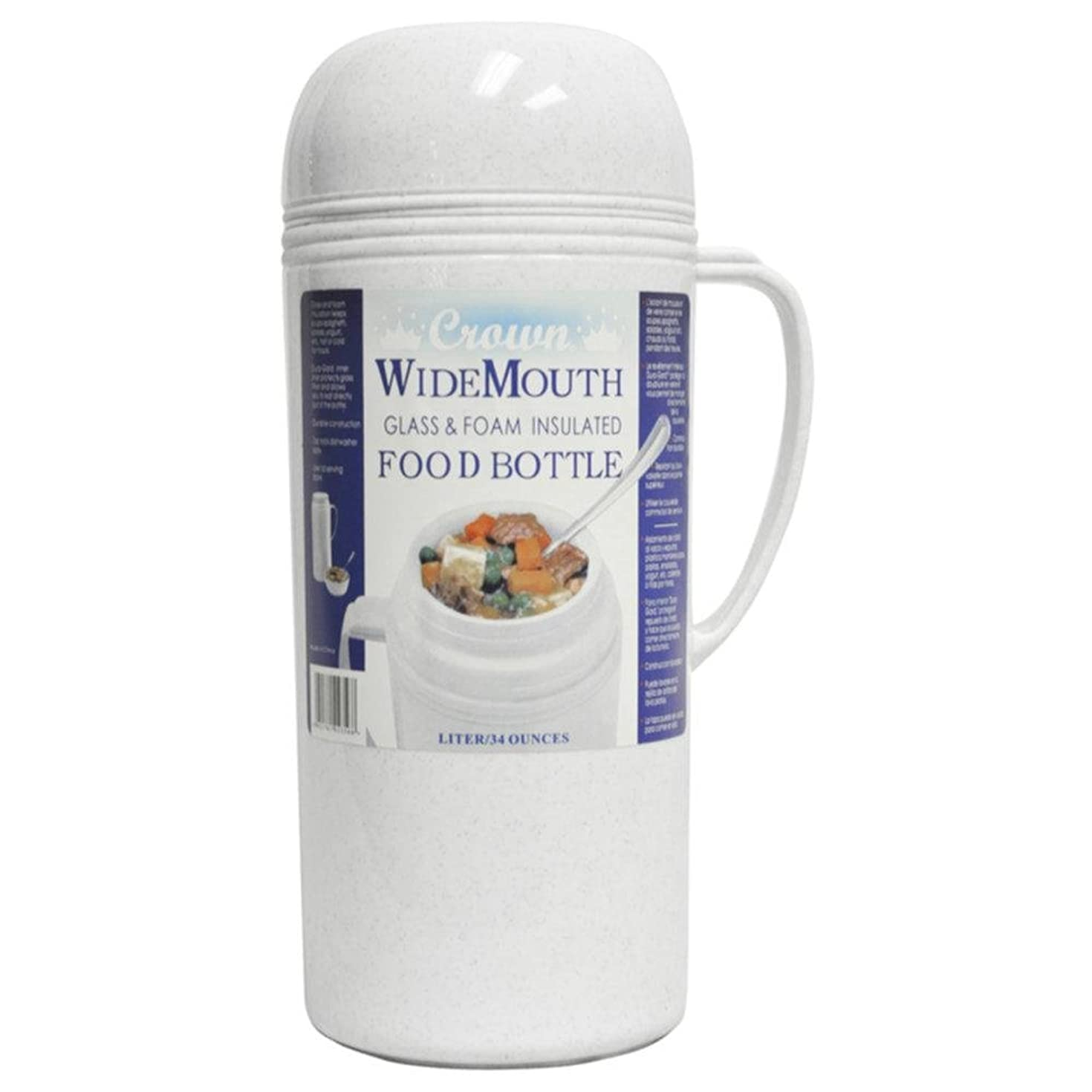 Brentwood 1.0L Wide Mouth Mouth Glass Vacuum/Foam Insulated Food Thermos consumer electronics Electronics
