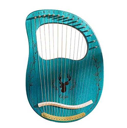 HYTGF Arpa Portátil de 16 Cuerdas Arpa para Amantes de la música, Principiantes, niños, Adultos, 16 Cuerdas de Metal,002,16 Strings