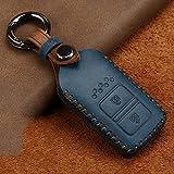 BUQDA Funda de Goma para Llave de Coche con 2 Botones, para Honda Vezel City Civic Jazz CRV Crider HRV Fit Freed Smart Key Accesorios Cuero