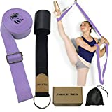Leg Stretch Band - to Improve Leg Stretching - Easy Install on Door - Perfect Home Equipment for Ballet, Dance and Gymnastic Exercise Flexibility Stretching Strap Foot Stretcher Bands (Light Purple)