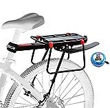 Aoweika Mountainbike Gepäckträger, Einstellbar Aluminiumlegierung Gepäckträger Fahrrad Perfekt für Mountainbike, Rennrad und Andere Fahrräder, Schnellverschluss und Montage (Neueste)