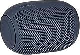 LG XBOOM Go PL2 - Altavoz Bluetooth portátil de hasta 10 Horas de batería, Resistencia al Agua IPX5, Altavoz para Fiestas con micrófono Compatible con iPhone y Android en Color Azul Marino
