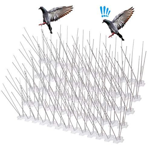 LEPO Pinchos Antipalomas de Acero Inoxidable 3 Metros para Control de Aves y Paloma para Tejados, Rejas, Vallas