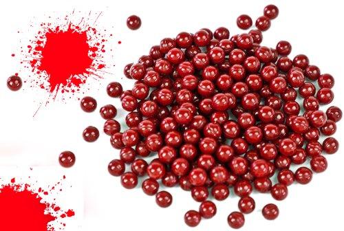 Soft-Air Farb-Kugeln Rot 240 Stück Munition für Spielzeug-Pistolen Softair-Waffen Pistolen und Gewehre 6mm Zubehör