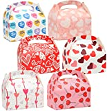 24 Valentines Day Heart Shaped Treat Boxes (3x5.5x6) for Valentine's Day Holiday Classroom Treats, Novelty Party Favor Exchanging Gifts.