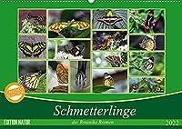 Schmetterlinge der Botanika Bremen (Wandkalender 2022 DIN A2 quer): Der Schmetterling, der von Blume zu Blume flattert, bleibt immer mein; den ich im Netz fange, verliere ich. (Monatskalender, 14 Seiten )