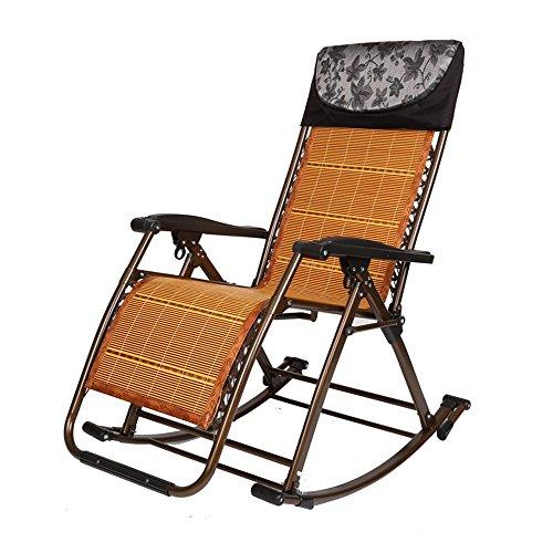 Chaises pliantes Xiaolin Balcon Chaise Déjeuner Pause Chaise Personnes Âgées Enceintes Chaise Chaise Extérieure Recliner (Couleur : 02)