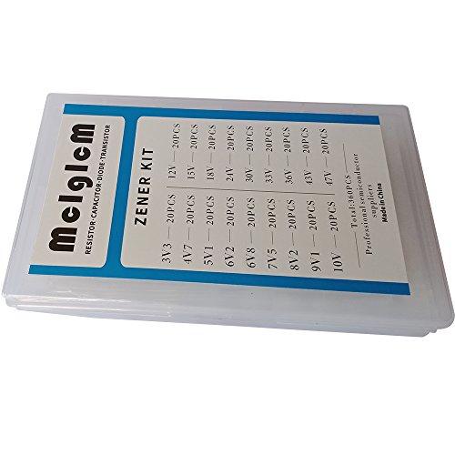 MCIGICM zener diode kit:0.5W zener diodes 18 Values Each 20pcs