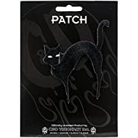 """Black Cat PATCH - Officially Licensed Original Artwork, 3.25"""" x 3"""", Iron-On/Sew-On Embroidered Patch"""