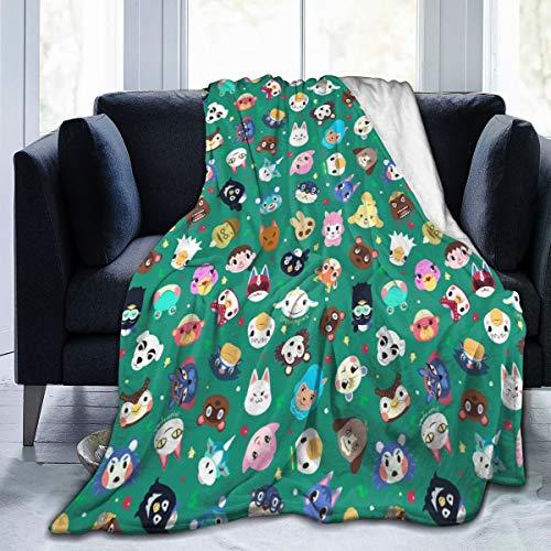 GOWINEU 80 x 60 Pulgadas, Manta de Tiro, Cruce de Animales (2) - Manta de Cama, Felpa para sofá