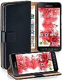 MoEx Premium Book-Hülle Handytasche passend für Samsung Galaxy Xcover 4 | Handyhülle mit Kartenfach & Ständer - 360 Grad Schutz Handy Tasche, Schwarz