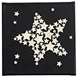 Holzsterne zum Basteln und Dekorieren | 5 verschiedene Größen | Sterne aus Holz | 1 cm bis 3 cm | naturfarben | 250 Stück | Ideal als Weihnachts-Deko, Tischdeko, Streudeko - 6
