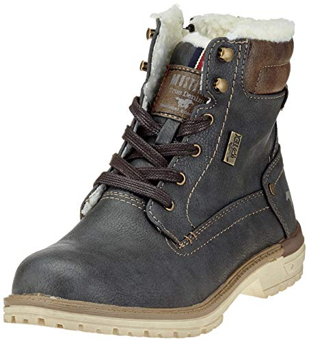 MUSTANG Unisex-Kinder Schnür-Booty Klassische Stiefel, Grau (Graphit 259), 38 EU