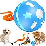 G.C Giochi Interattivi per Cani Cucciolie Gatti Palla Magica Giocattoli, Giocattolo per Animali in Casa, LED 360 Gradi Rotazione e Ricaricabile USB