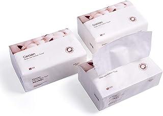 3 Pcs Disposable Face Towel Cotton Cleansing Towel Makeup Remover Removable