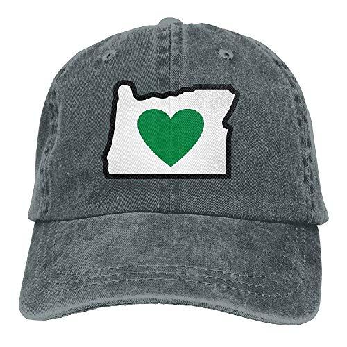 Trushop Men and Women Heart in Oregon Vintage Jeans Baseball Cap Baseball Caps Hüte