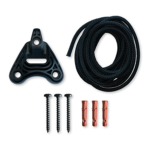 LA SIESTA Home Rope Black - Sujeción para sillas colgantes y hamacas nido en paredes y techos