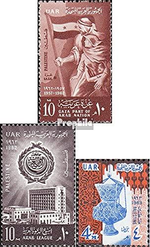 égypte - OCC. Palestine 117,118,124 (complète.Edition.) 1962/63 Palästinatag, Ligue, Moscheeampel (Timbres pour Les collectionneurs)