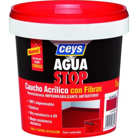 CEYS CE903313 AGUASTOP CAUCHO FIBRAS NEGRO 1KG