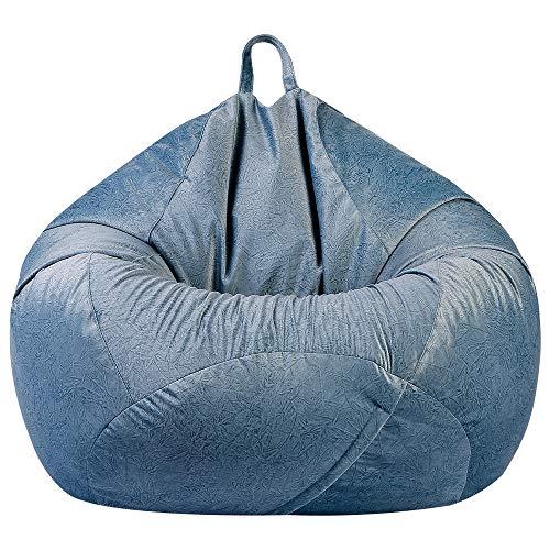 ZIJ Bequemer Sitzsack, großzügiger Sofa-Bezug, ohne Füllstoff, Plüschstoff, Liege, Sitzsack, Pouf, Couch für Wohnzimmer (Farbe: G333059, Größe: 60 x 75 cm)