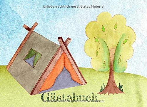 Gästebuch: Ferienhaus Gästebuch I Besucherbuch I Ferienwohnung I Camping Zelt in der Natur