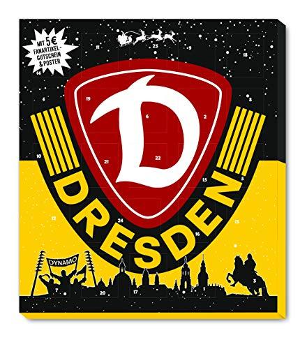 Adventskalender, Weihnachtskalender deines Bundesliga Lieblingsvereins - und Sticker Wir Leben Fußball Fairtrade (Dynamo Dresden)