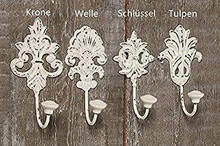 Tamia-Home Wandhaken Kleiderhaken Metallhaken Haken für Bad Küche Garderobe, Haken im Retro Vintage Stil 4er Weiss gemischt