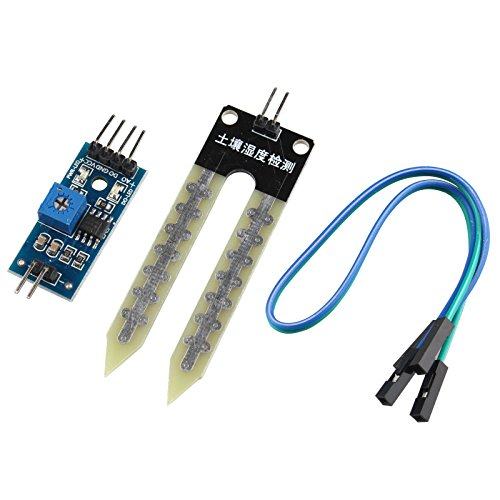 HALJIA Detektionsmodul, Feuchtigkeitshygrometer, automatisches Bewässerungssystem Kompatibel mit Arduino Roboter Smart Car