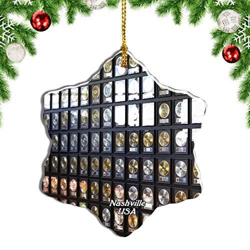 Weekino USA America Country Music Hall Nashville Christmas Ornament Travel Souvenir Tree Hanging Pendant