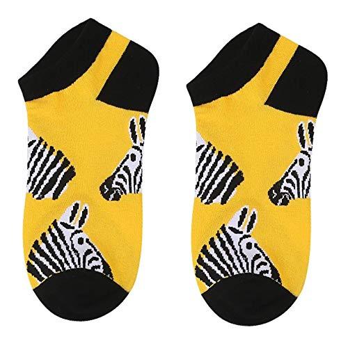 MIWNXM 10 Pares Unisex Harajuku Skateboard Fashion Food Pattern Socks Funny Animal Print Fruit Color Cotton...