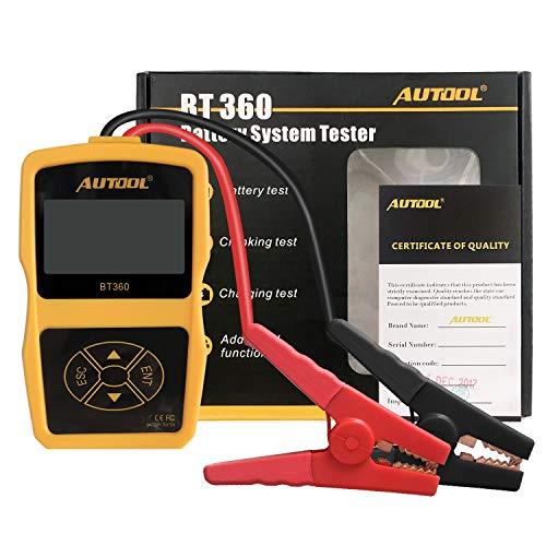 Autool BT360 Batterie Testgerät Auto Batterietester für 12v Autobatterie Tester CCA 100-2400