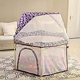 Unknow 22 sq ft PúrpuraParque Bebes con Malla Transpirable,6 Piezas Corral para Bebe para Bebés, Bebés, Recién Nacidos, Patio Interior Y Exterior