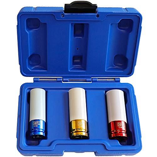 S&R Set de 3 Douilles Impact (17-19-21 mm) pour Clé à Choc 1/2\