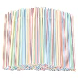 Chilits 100Pcs Flexible Straws Plastic Drinking Supplies for Party