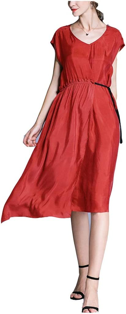 Dress, Women's Cocktail Formal Swing Dress with Copper Ammonia Large Size Women's Clothing 4 Sizes and 3 Colors Sleeveless Slim Business Pencil (Color : B, Size : XXL)