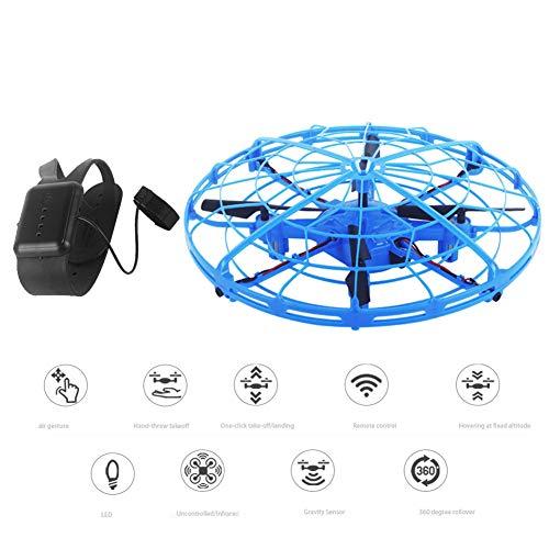 LYHLYH Mini UFO Drone Toy, Gesture détection des Avions UFO Jouets Infrarouge à Induction à 360 ° Cadeaux de Rotation et la lumière LED Clignotant pour Adultes Garçons Filles