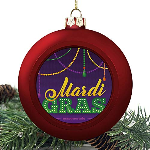 SUPNON Mardi Gras Beads | Christmas Ball Ornaments 2020 Christmas Pendant Personalized Creative Christmas Decorative Hanging Ornaments Christmas Tree Ornament №AM021929