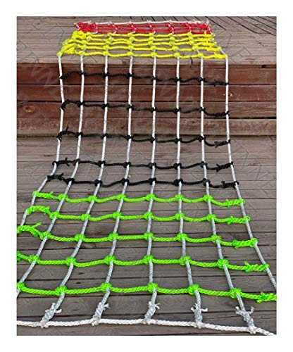XHP Outdoor Climbing Frame Nets Swingsets Ladder Colorful Rope Netting for Kids Children and Adults, Backyard Playground Cargo Net Swing Slide Webbing Climbing Net Safety Net