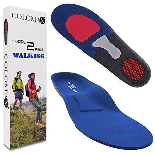 COLOMAX - WALKING - Einlegesohlen ideal für Wandern und Alltag - Optimale Dämpfung - Maximaler Halt - Für Damen & Herren (43-46 EU)