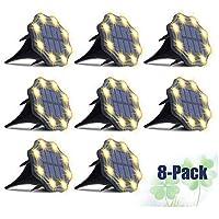 8-Pack JesLED Solar LED Pathway Disk Light