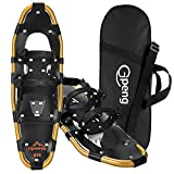 Gpeng Snowshoes for Men Women Youth Kids, Lightweight Aluminum Alloy All Terrain Snow Shoes with Adjustable Ratchet Bindings with Carrying Tote Bag,14'/21'/ 25'/27'/ 30'