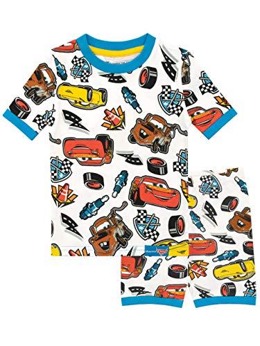 Disney Jungen Cars Schlafanzug Weiß 122