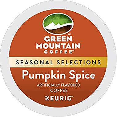 Green Mountain Coffee Roasters Pumpkin Spice, Single Serve Coffee K-Cup Pod, Flavored Coffee, 24